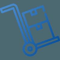 Wózek z pudłami